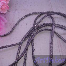 Полый шнур с блестками